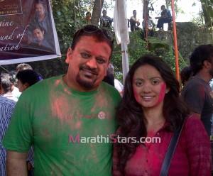Shruti Marathe Holi Photos