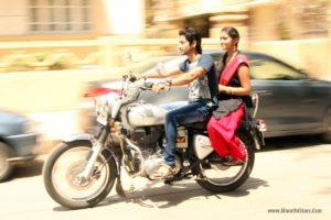 Akash Thosar, Rinku Rajguru On Bullet - Sairat