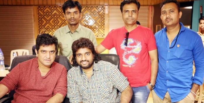 Jiidd song recording at Ajiwasan studios