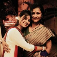 Mrunal Dusanis With Her Mother